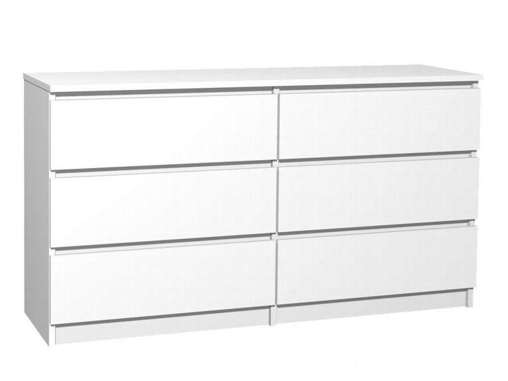 Kommode Weiß 6 Schubladen 2021