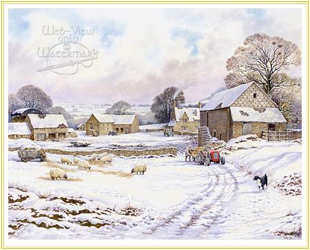 Dovecote Farm Farmyard Painting