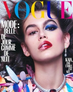 Kaia Gerber,Imaan Hammam, Edie Campbell, and Rianne Van Rompaey forVogue Paris October 2018 issue. Photographed byMikael Jansson