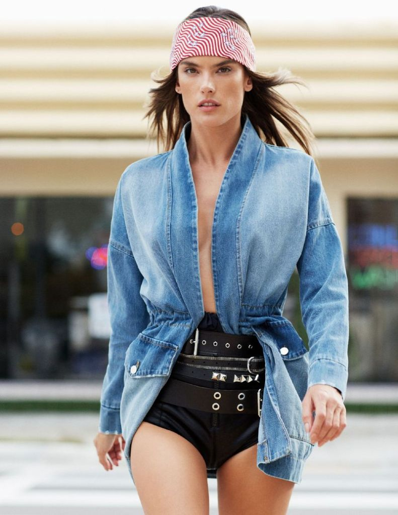 Alessandra Ambrosio for ELLE Italia April 2019. Photographed by Michael Sanders.