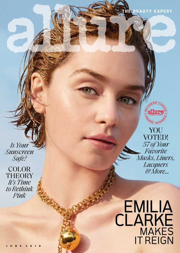 Emilia Clarke for Allure, June 2019 Issue. Photographed by Marcus Ohlsson.