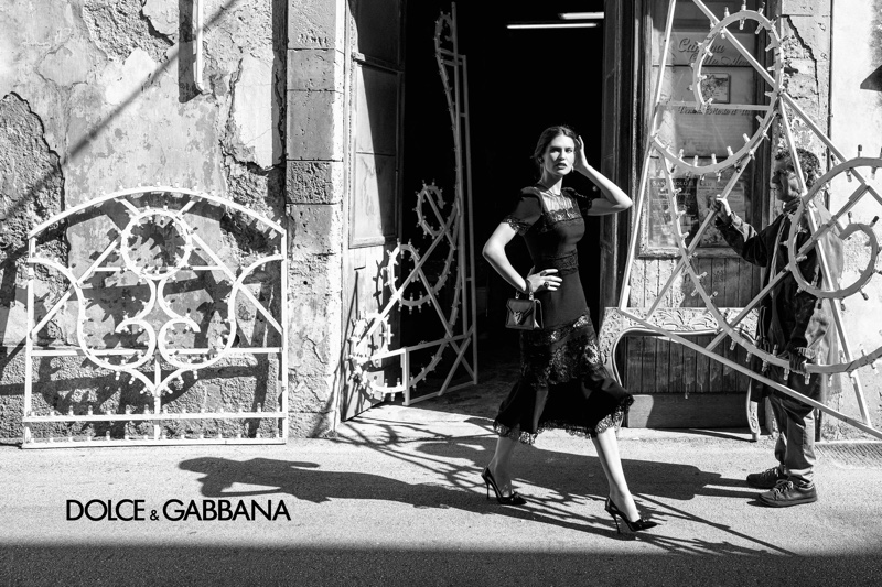 Dolce & Gabbana's Spring 2020 campaign. Photographed by Salvo Alibrio. The campaign features models Bianca Balti, Jessica Stam and Isabeli Fontana.