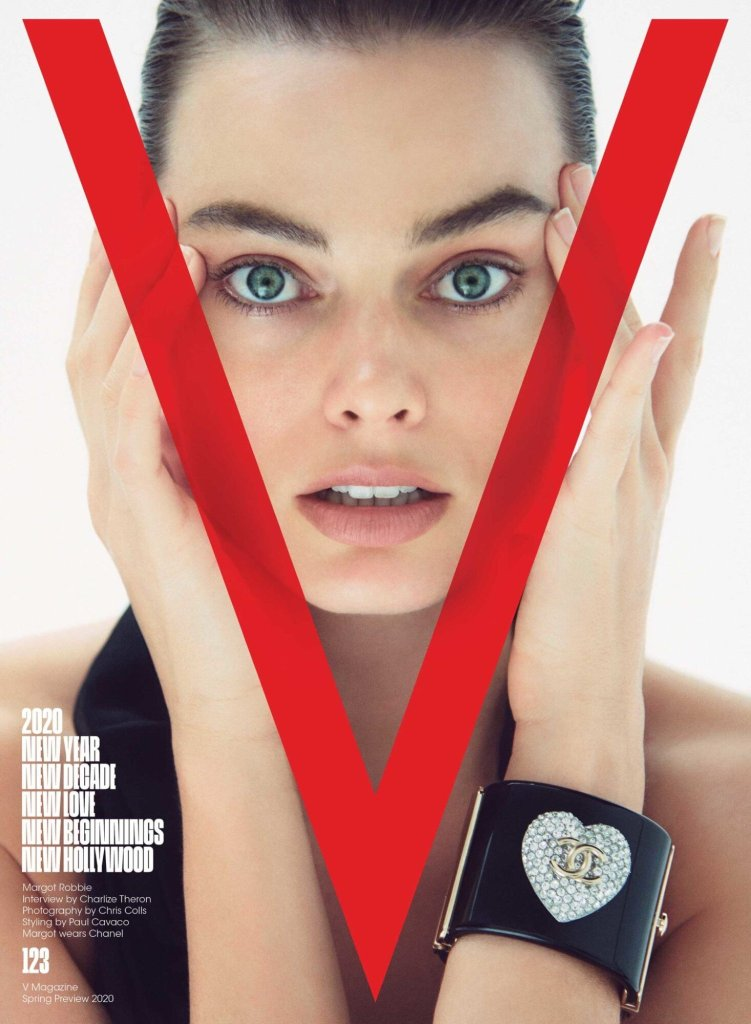 Margot Robbie for The New Hollywood Issue of V Magazine #123. Photographed by Chris Colls and styled by Paul Cavaco.