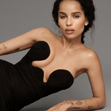 Zoë Kravitz covers the February 2020 issue of ELLE US. Photographed by Paola Kudaki.