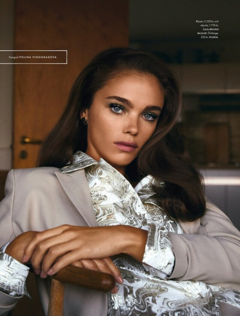 Jena Goldsack for ELLE Sweden February 2020. Photographed by Polina Vinogradova and styled by Barbara Gullstein.