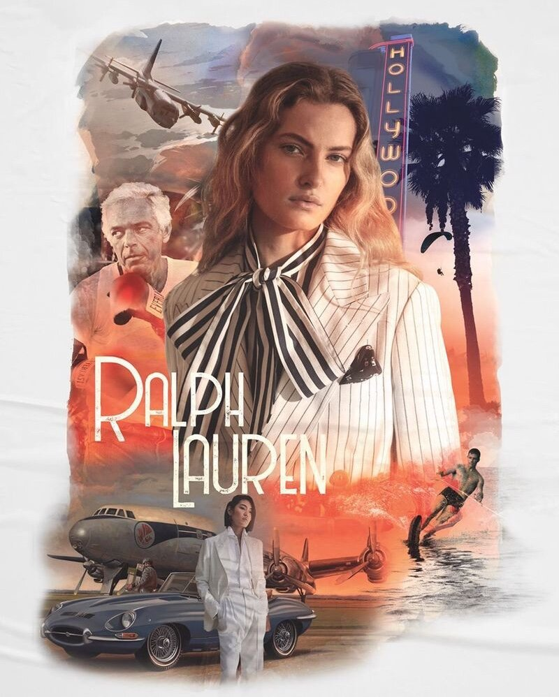 Ralph Lauren channels Old Hollywood glamour and international travel to Arabia for it's Spring 2020 campaign.