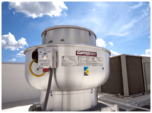 install a roof mounted exhaust fan
