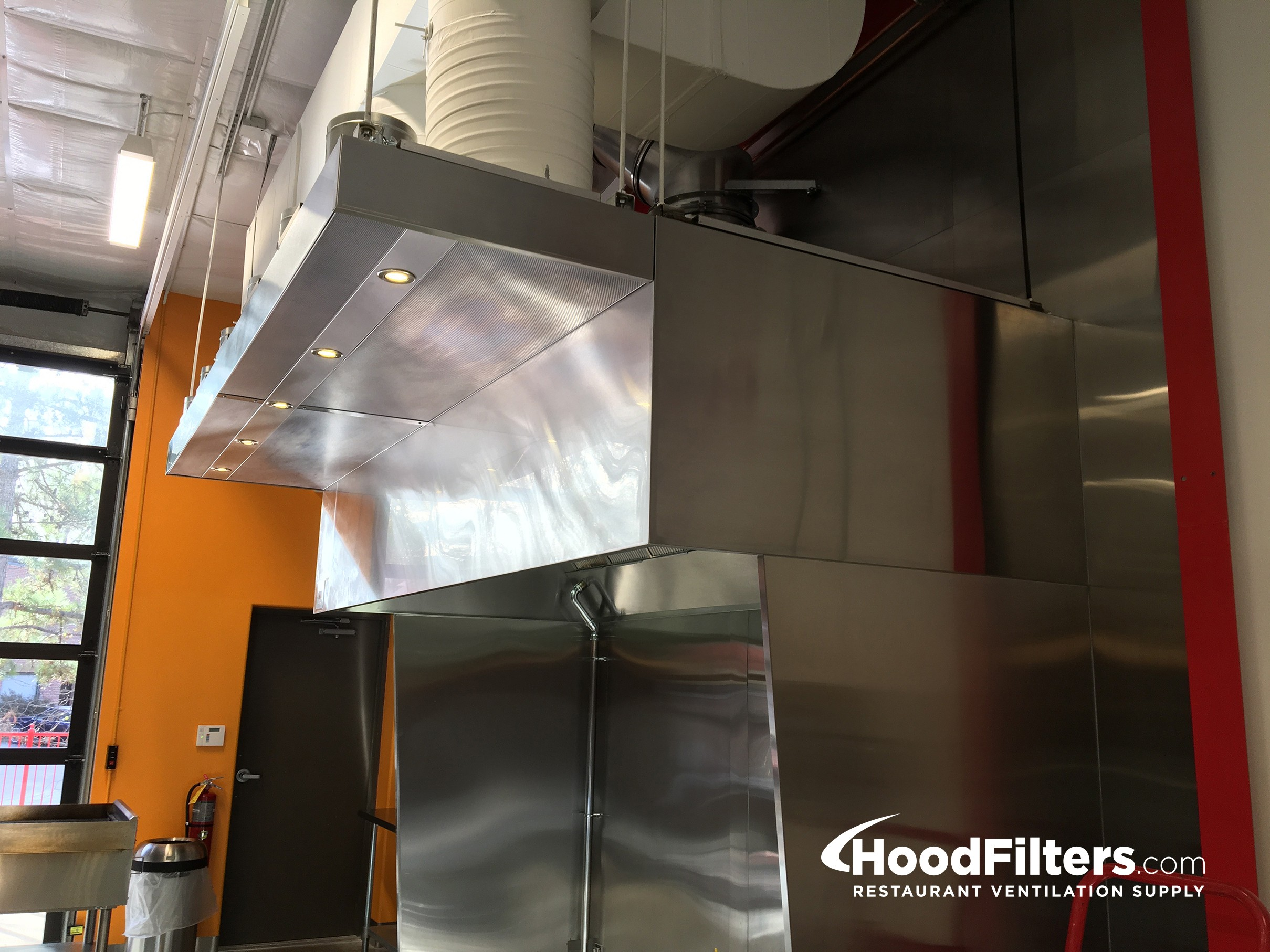 commercial kitchen hood and fan system