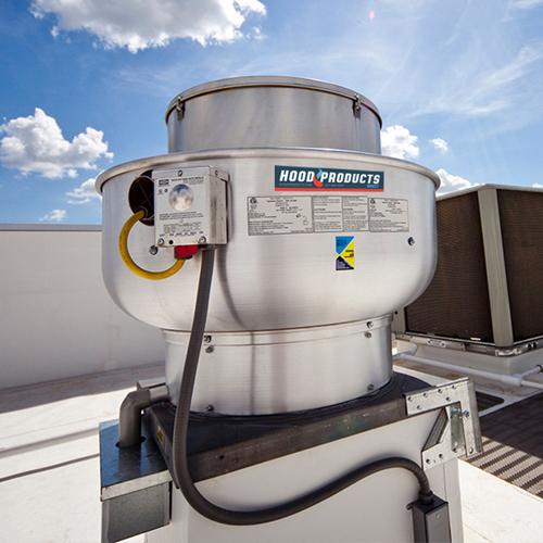 restaurant hood roof exhaust fan