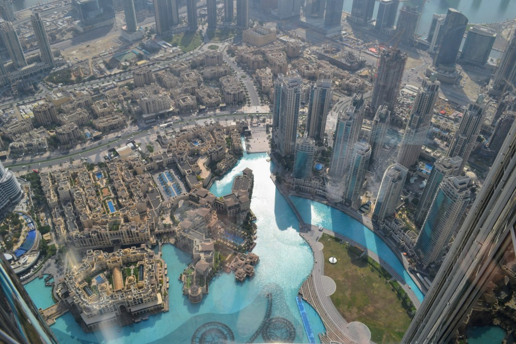 The view at the top of the Burj Khalifa in Dubai