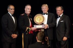 Donald Trump With Marine Corps Foundation Commandants