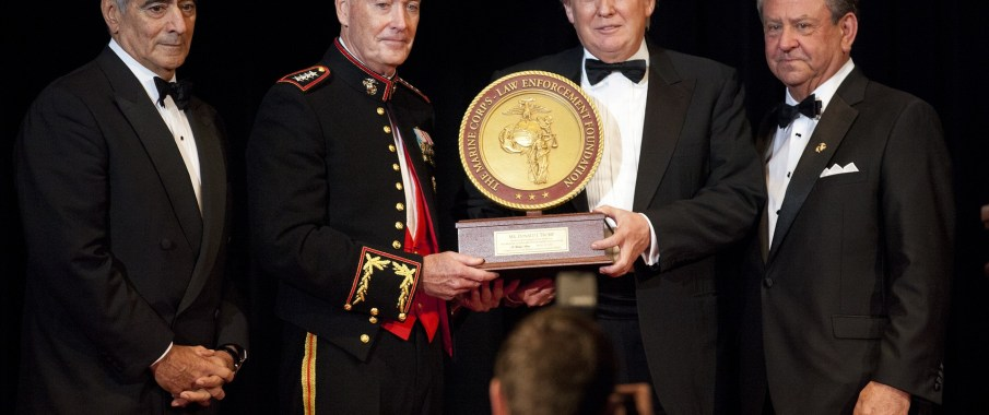 Donald Trump With Marine Corps Foundation Commandants