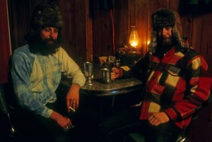 Alaskan hunters in a cabin, being quiet. Don't you miss that?
