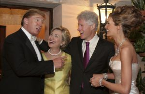 The Trumps and Clintons just chilling, planning our demise at the 14th Annual Trump Wedding.
