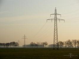 Duits-type IJsselmij-donaumasten voor 110 kV bij Zwinderen