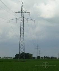 110 kV-mast volgens Duits ontwerp vlakbij Hardenberg