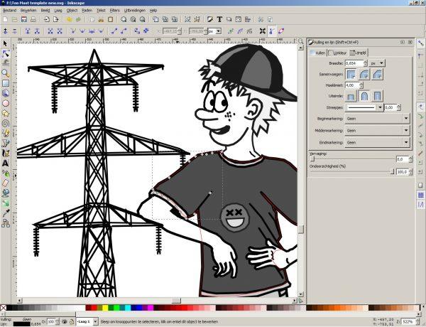 Inkscape als tekenprogramma voor cartoons