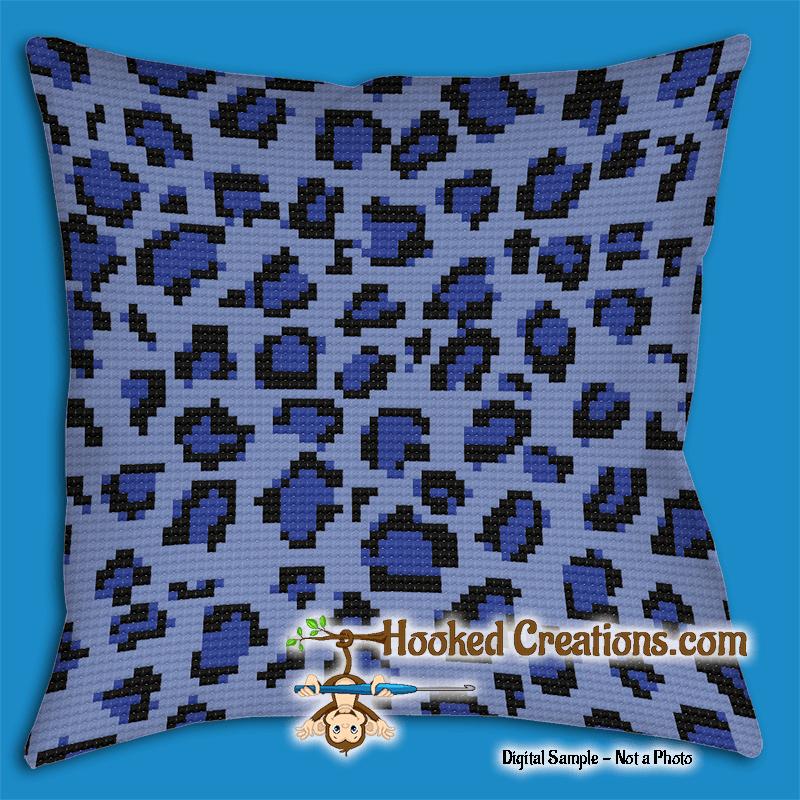 blue leopard throw pillow crochet pattern pdf download