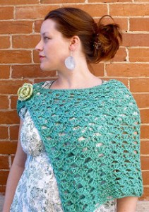 Crochet Spring Shrug-Beautiful Crochet Spring Wrap by Sarah Anderson Designs