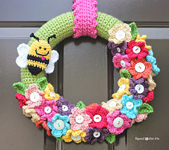 Crochet Spring Wreaths-Crochet Spring Wreath