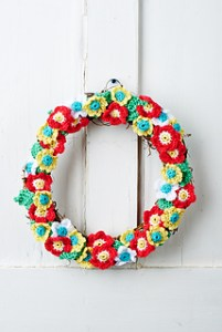 Crochet Spring Wreaths-Floral Wreath