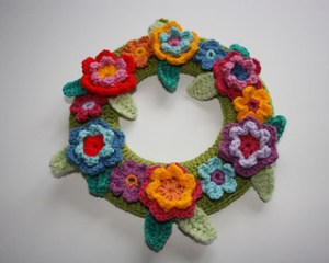 Crochet Spring Wreaths-Springtime Wreath
