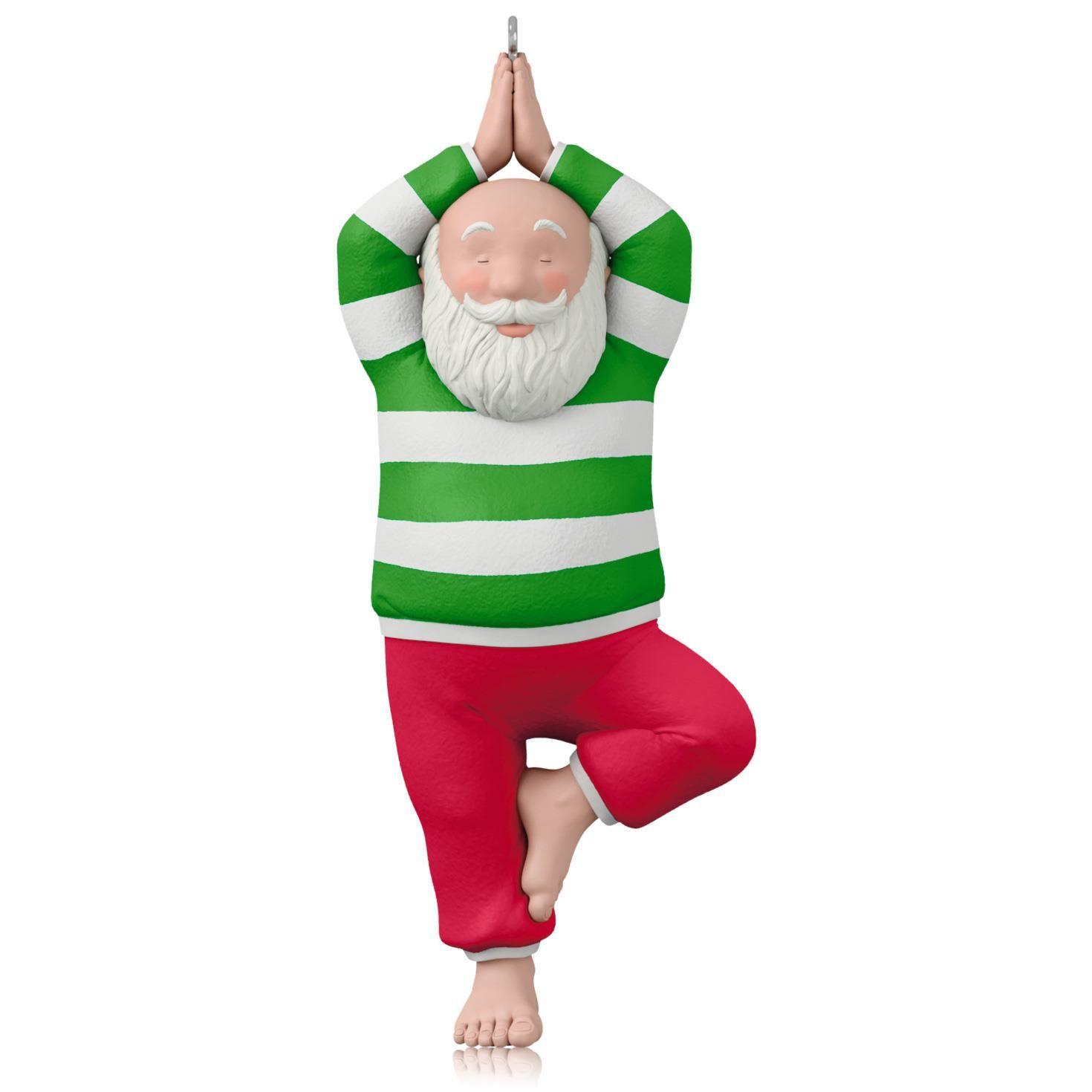 2015 Santa Yoga Hallmark Keepsake Ornament Hooked On