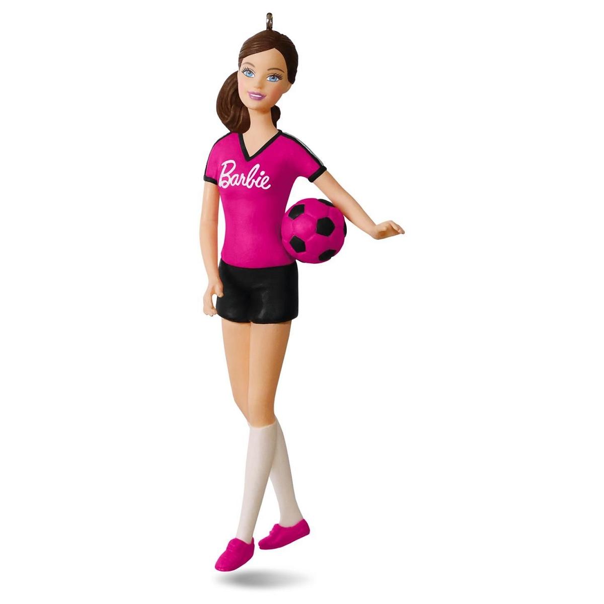 2016 Soccer Player Barbie Hallmark Keepsake Ornament