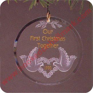 1990 First Christmas Together Hallmark Ornament