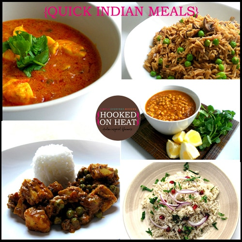 Pic for Quick Indian Dinner Ideas taken from www.hookedonheat.com, visit site for recipe details.