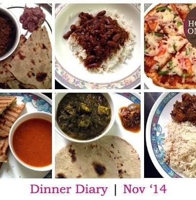 Dinner Diary: Nov '14