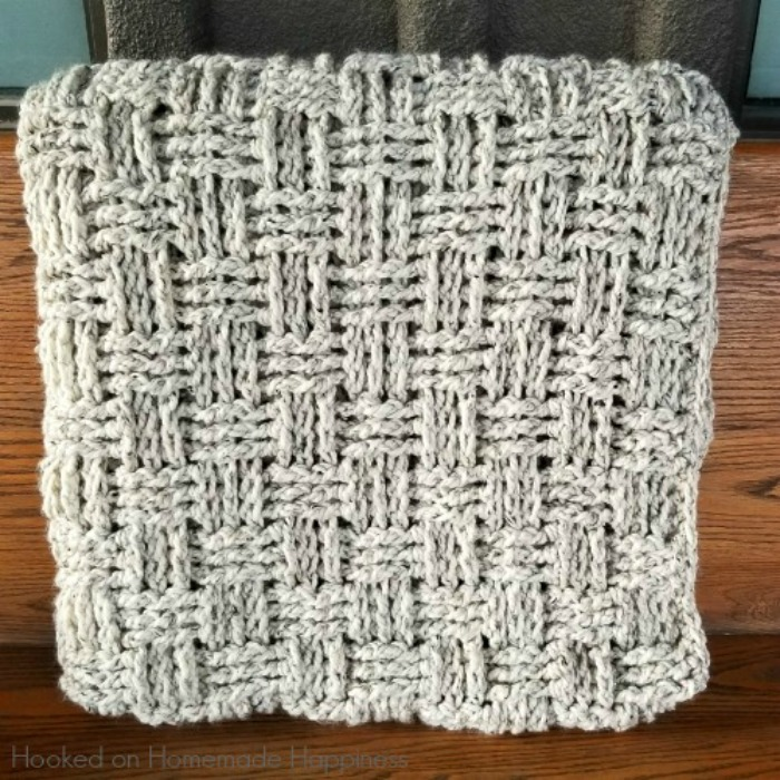 Chunky Basketweave Throw Crochet Pattern Hooked On
