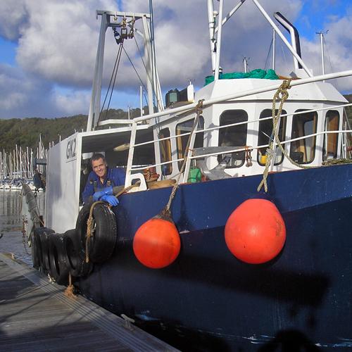 Prawn Trawler at Largs, Scotland