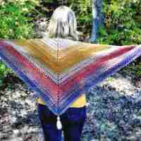 Autumn Walks Triangle Scarf - Crochet Pattern
