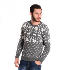 Pull-Col-Rond-Gris