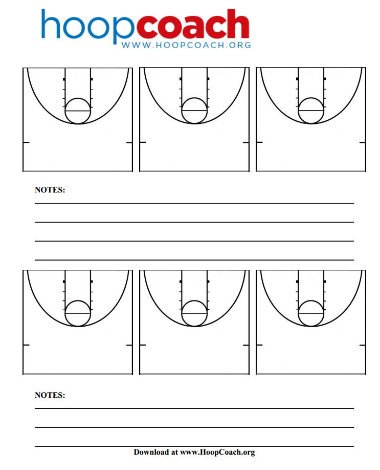 Basketball court templates basketball half court clipart half court basketball diagrams hoop coach pronofoot35fo Choice Image