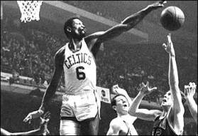Bill Russel Blocking a Shot
