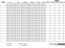 Basketball Stat Sheet