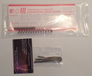 HGW & Wolff 1911 Compact Tune-Up 45 Auto Spring Kit Factory 22lb Recoil Sear & Firing Pin