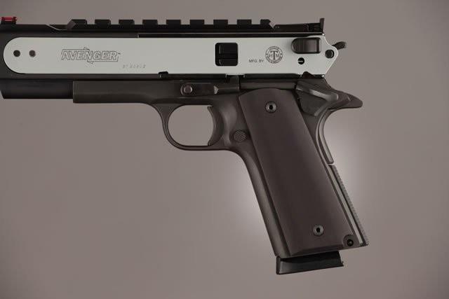 Hogue 1911 Grips Full Size Government Thin Grips Aluminum Matt Black 01460