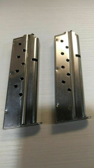 Pair of Checkmate 1911 magazines 9mm 9rd -- mag #55