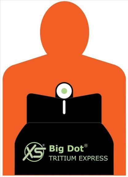 XS Big Dot Set- White Stripe Rear with Tritium Front +0