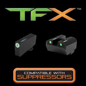 TruGlo TFX Tall Sight Set- Suppressor Use Only