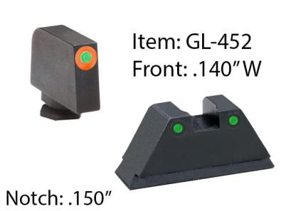 Ameriglo Spartan Operator Set- Green Rear w/ Green and Orange Front