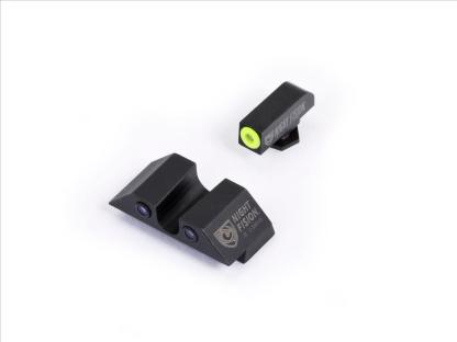 Night Fision Set- Green U Notch Rear w/ Green and Yellow Front