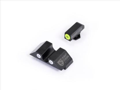 NF Tritium Sights -Yellow outline with green tritium front, white outline rear with green tritium