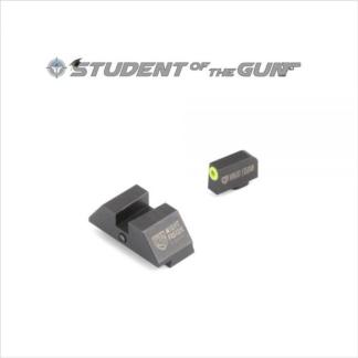 "Night Fision Perfect Dot™ Official Student of the Gun Accur8™ Night Sight Set with Front + ""Square"""