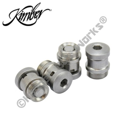 KIMBER Factory 1911 Stainless Steel Hex Head Grip Screws & Bushings #4100090