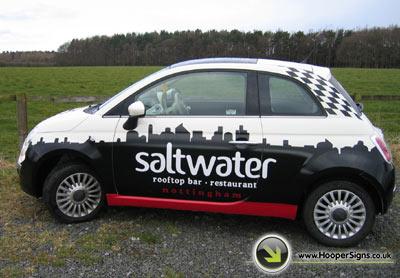 Saltwater Rooftop Bar Car Wrap