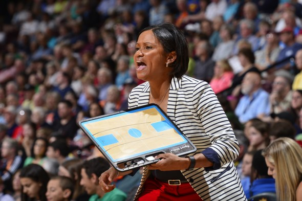 Head coach Pokey Chatman of the Chicago Sky. Copyright © 2015 NBAE (Photo by David Dow/NBAE via Getty Images)
